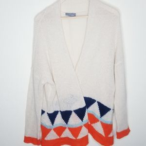 Wooden Ships Ivory Geometric Mohair Cardigan